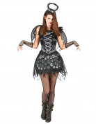 Todesengel Halloween-Damenkostüm schwarz-grau