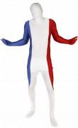 Morphsuit Frankreich Fanartikel blau-weiss-rot