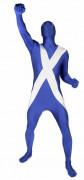Morphsuit Schottland Fanartikel weiss-blau
