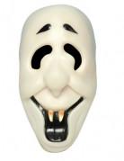 Vampir-Maske Halloweenmaske weiss-schwarz