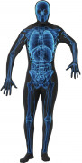 Second Skin Suit Skelett Röntgenstrahlen Halloween Kostüm schwarz-blau