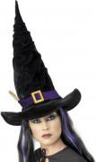 Hexenhut Kostüm-Zubehör schwarz-lila