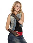 Netz-Handschuhe Armstulpen lang schwarz