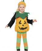 Kürbis Pumpkin Kinder-Kostüm orange-grün-schwarz