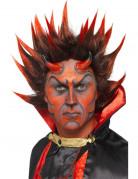 Dämonenperücke Perücke mit Spitzen für Halloween schwarz-rot