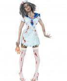 Horror Zombie Sailor Matrosin Halloween Damenkostüm hellblau