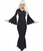 Elegante Vampirin Damenkostüm schwarz