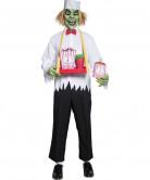 Cirque Sinister Teuflischer Popcornverkäufer Halloween-Kostüm weiss-grün-schwarz