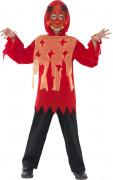 Teufel Halloween-Kinder-Kostüm-Set rot