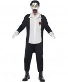 Horror Zombie Gothic Puppe Halloween Herrenkostüm schwarz-weiss