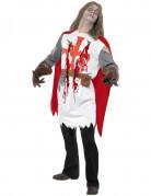 Zombie Kreuzritter Halloween Kostüm weiss-rot