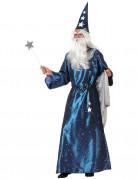 Zauberer-Kostüm für Herren Halloween-Kostüm blau-weiss-silber