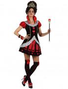 Böse Herzkönigin-Kostüm für Damen Halloweenkostüm schwarz-rot-weiss