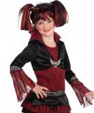 Perücke Lilith für Kinder schwarz-rot