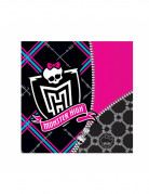 Servietten Monster High Kindergeburtstag-Deko 20 Stück schwarz-pink 33x33cm