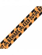 Absperrband Keep Out Halloween-Deko schwarz-orange 30m