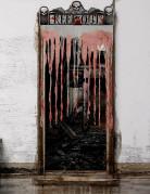 Blutiger Fetzenvorhang Halloween-Deko weiss-rot 97x137 cm
