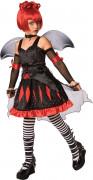 Kleine Vampir-Prinzessin Halloween Kostüm für Kinder schwarz-rot-grau