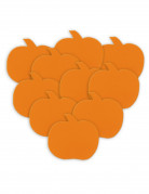 Halloween Kürbis-Tischdeko 10 Stück orange