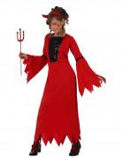Teufelinkostüm für Mädchen Halloween rot-schwarz
