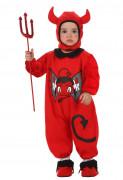 Niedlicher Teufel Babykostüm rot-schwarz