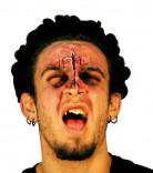 Stigmata-Brandwunden-Applikation Halloween-Gesichtsapplikation hautfarbe-rot