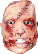 Vernarbtes Gesicht Maske Halloween Kostümaccessoire hautfarben-rot