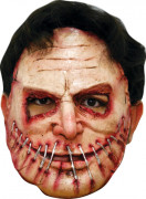 Killer Halloween-Maske rot-hautfarben