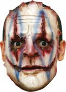 Horrorclown Halloween-Maske weiss-rot