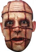 Viereckige Schnittwunden Maske Halloween Kostümaccessoire hautfarben-rot