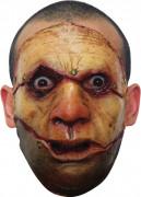 Rissige Haut Halloween-Maske braun-rot-beige