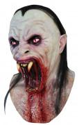 Schlangenmensch Maske Erwachsene Halloween rot-weiss