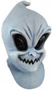 Schelmischer Geist Halloween-Latexmaske grau-schwarz