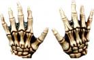 Skelett Handschuhe Halloween beige
