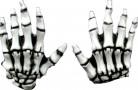 Skelett-Handschuhe Halloween Kostümaccessoire weiss-grau