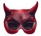 Teufel Halb-Maske Halloween Kostümaccessoire rot
