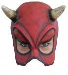 Sexy Teufel Halb-Maske Halloween Kostümaccessoire rot