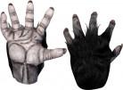 Handschuhe Gorilla Kostümaccessoire beige-schwarz