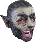 Werwolf Halloween-Maske beige-dunkelbraun