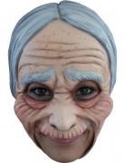 Alte Dame Maske Märchen Maske beige-grau