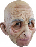Opa-Maske für Erwachsene an Halloween hautfarben-grau