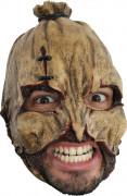Strohmann Maske Halloween Kostümaccessoire braun