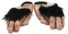Schuhe Schimpansen-Füße Kostümzubehör haut-braun