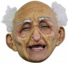 Alter Mann Maske Faschingsmaske Beige