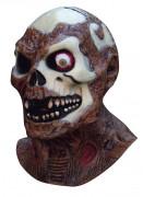 Zombie Maske Halloween Kostümaccessoire weiss-rot