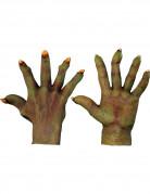 Monsterhände Halloween-Handschuhe grün