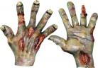 Verbrannte Hände Handschuhe Kostümaccessoire grün-rot