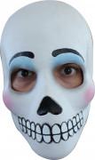 Tag der Toten Maske Schädelmaske für Damen weiss-schwarz