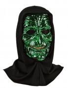 Hexenmaske Kostümaccessoire Halloween grün-schwarz