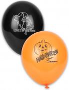 Halloween-Ballons Luftballons 12 Stück orange-schwarz-weiss